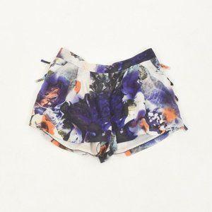 Leifsdottir Watercolor Floral Silk Dress Shorts
